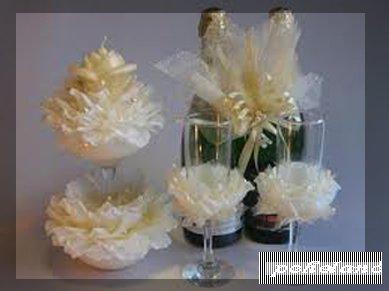 Свадебные аксессуары своими руками Для создания украшения на бокалах берем 2 обычных прозрачных винных бокала без надписей. Далее нужно купить обычный
