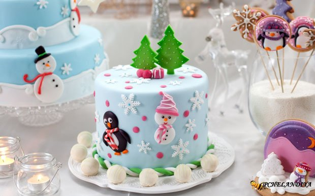 Новогодние торты и печенье 2015 с фото